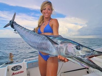 009 florida fishing girl catches two