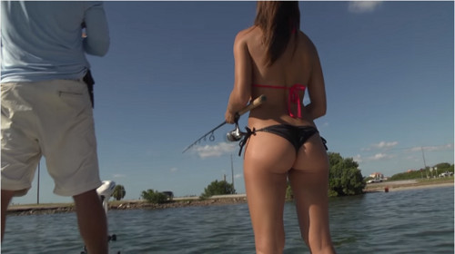 Girl snook fishing in Florida